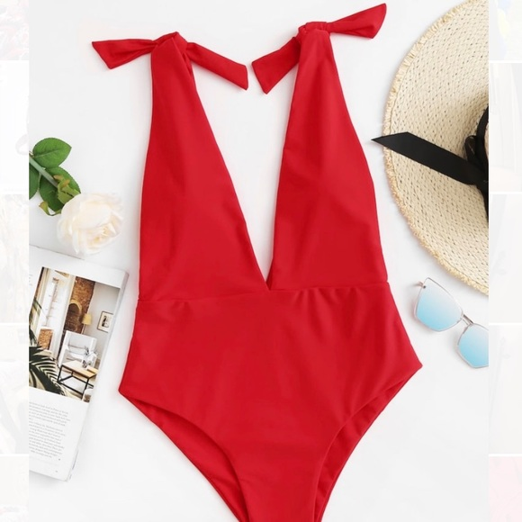 Other - NWT Red One Piece Bathing Suit